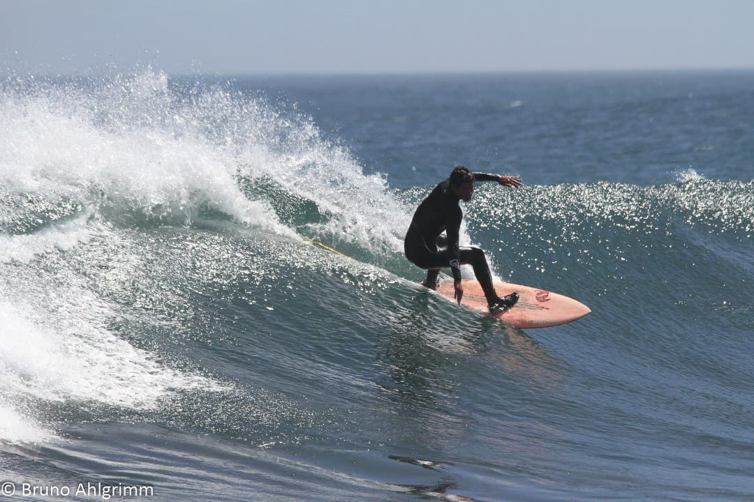 Surfing at Punta Lobos