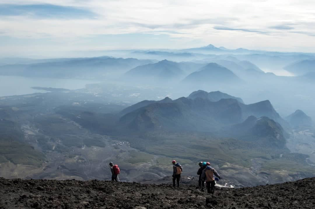 Hiking on Volcan Villarrica