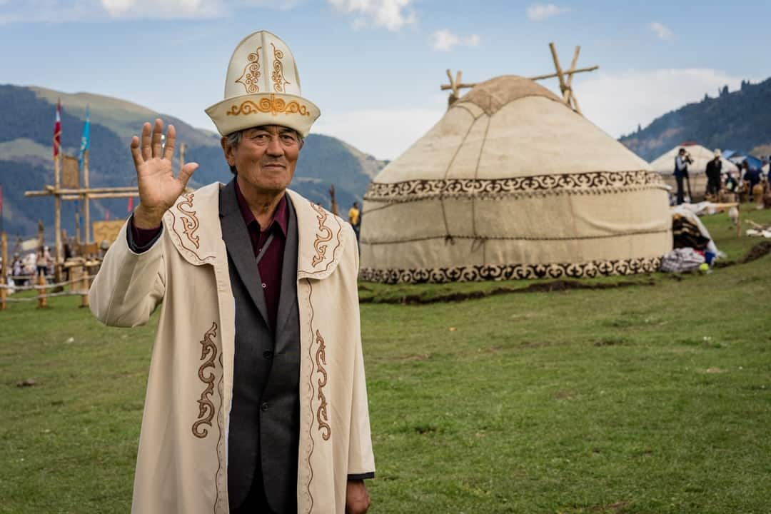 Old Man People Of World Nomad Games Kyrgyzstan