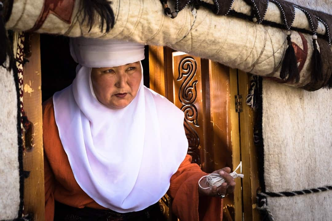 Lady Yurt People Of World Nomad Games Kyrgyzstan