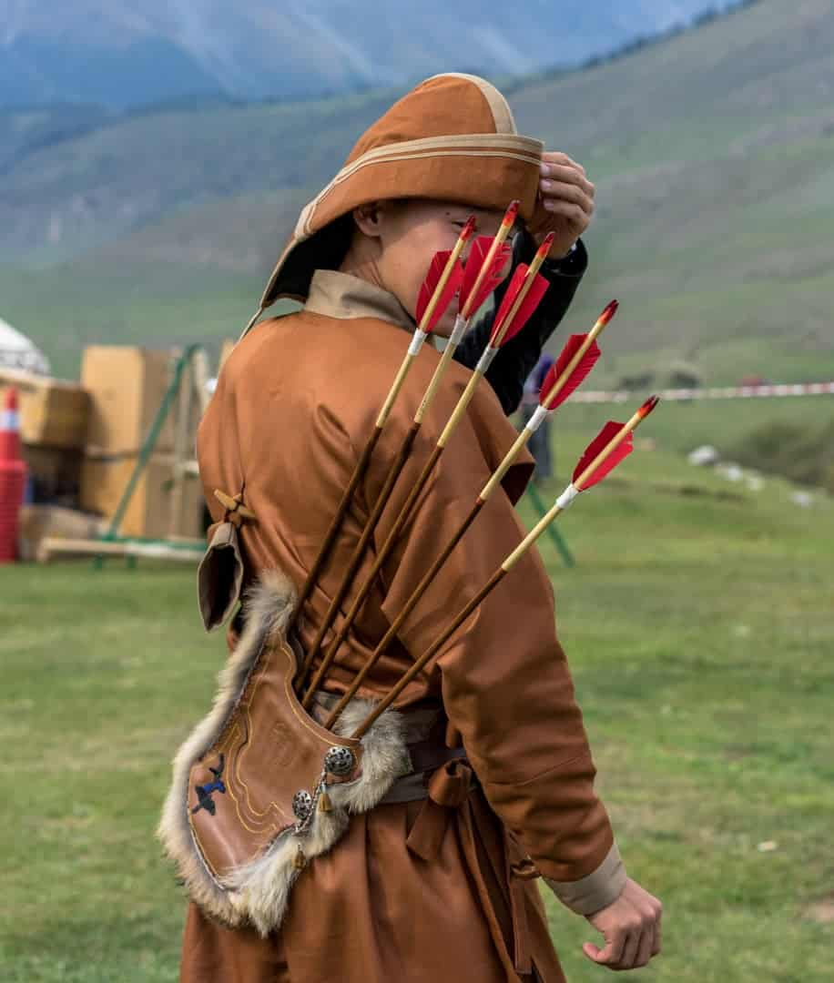 Mongol Archer People Of World Nomad Games Kyrgyzstan