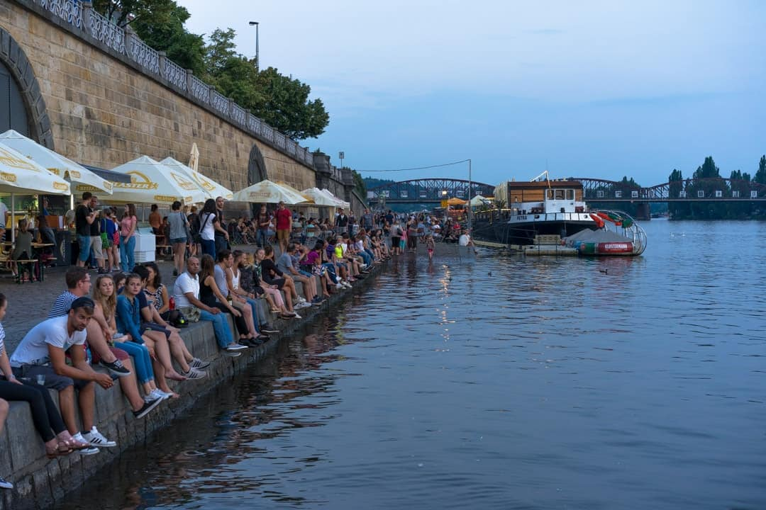 Vltava River Drinking What To Do In Prague