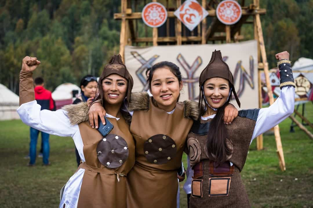 Young Girls People Of World Nomad Games Kyrgyzstan