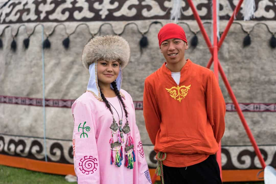 Young Couple People Of World Nomad Games Kyrgyzstan