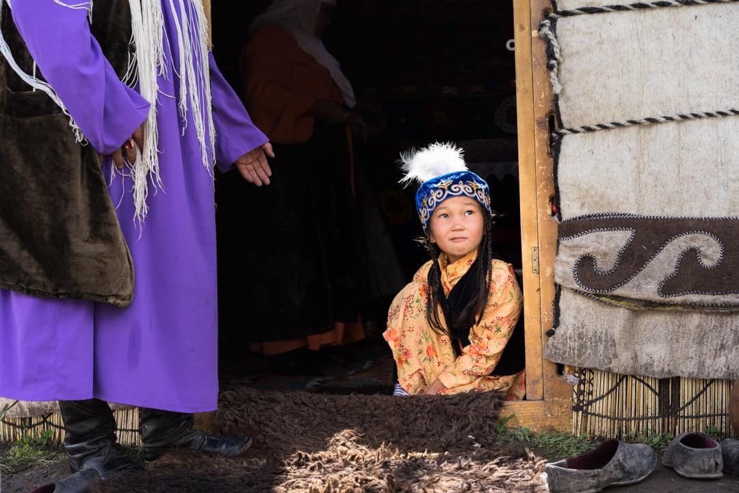 Little Girl People Of World Nomad Games Kyrgyzstan