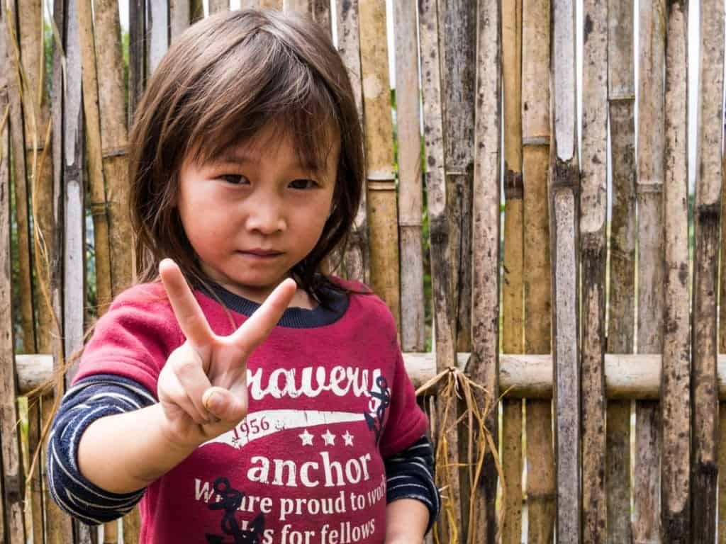 Young Girl Peace Sign