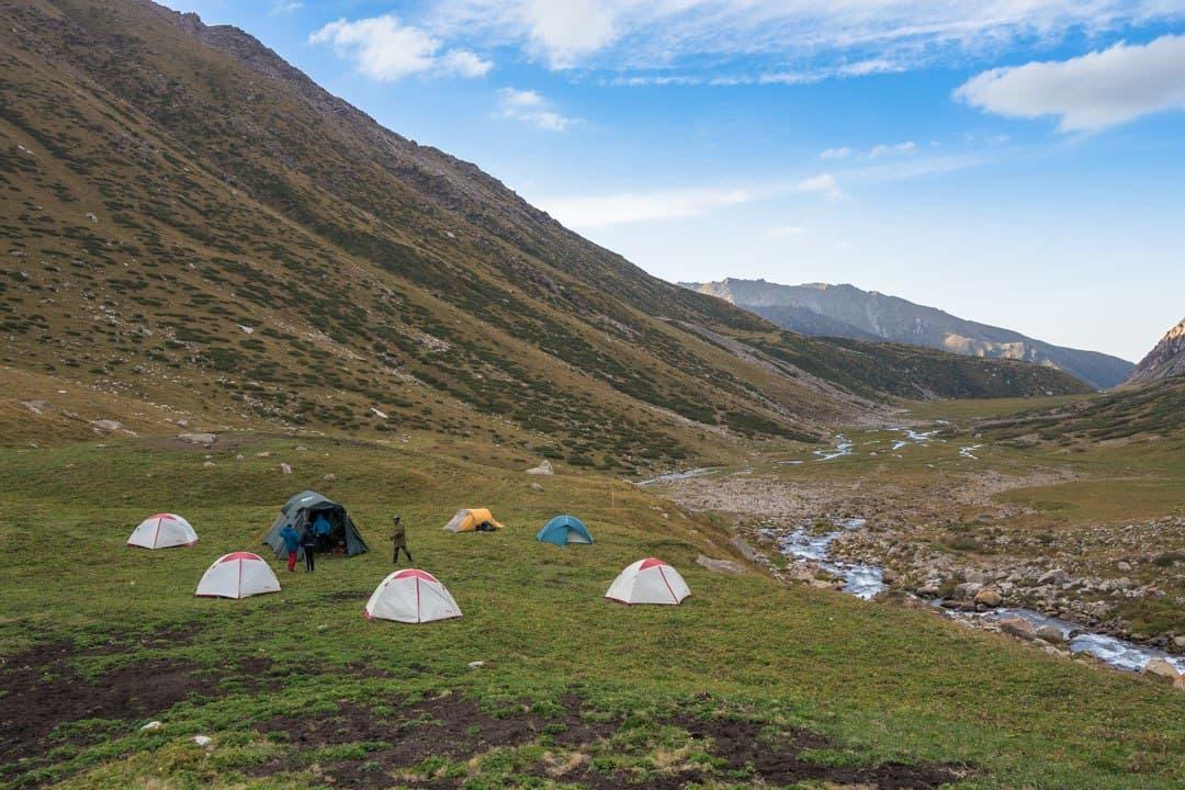 Campsite Jyrgalan Trek