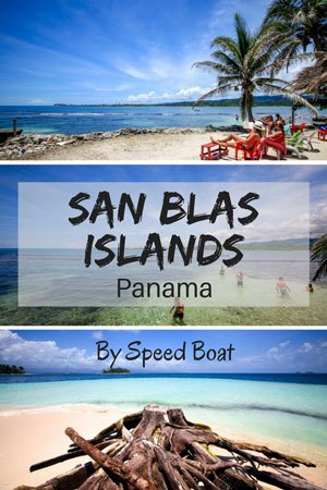 Travelling from Panama to Colombia through the San Blas Islands by Speedboat.