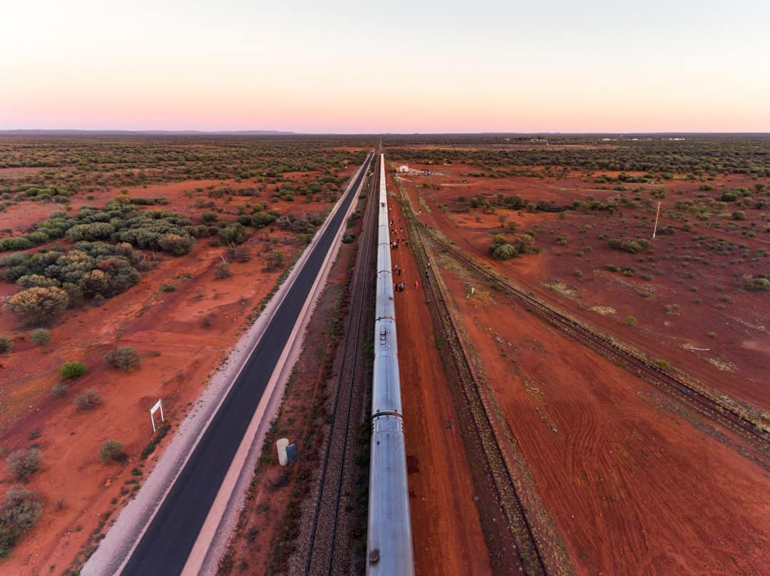 Drone Simpsons Gap The Ghan Off Train Excursion