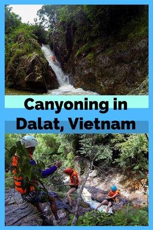 Canyoning in Dalat, Vietnam. Things to do in Dalat