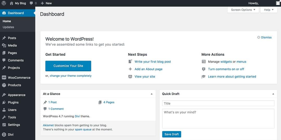 How To Start A Travel Blog Wordpress Dashboard
