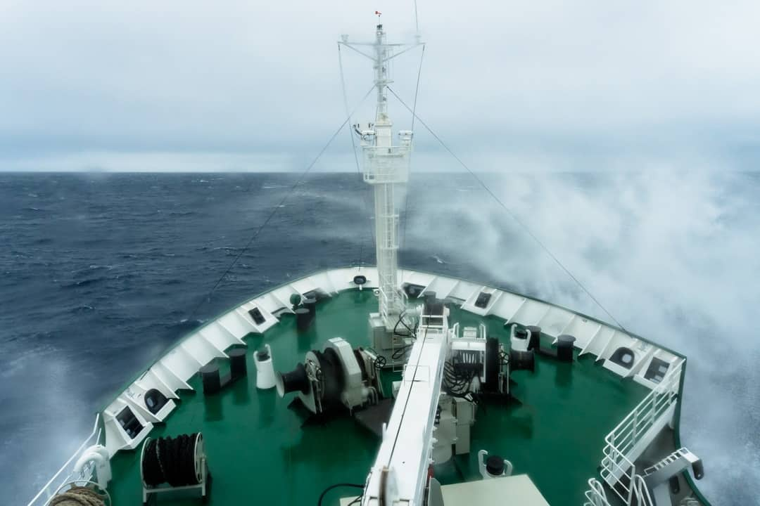 Sea Spray Crossing The Drake Passage From Ushuaia To Antarctica