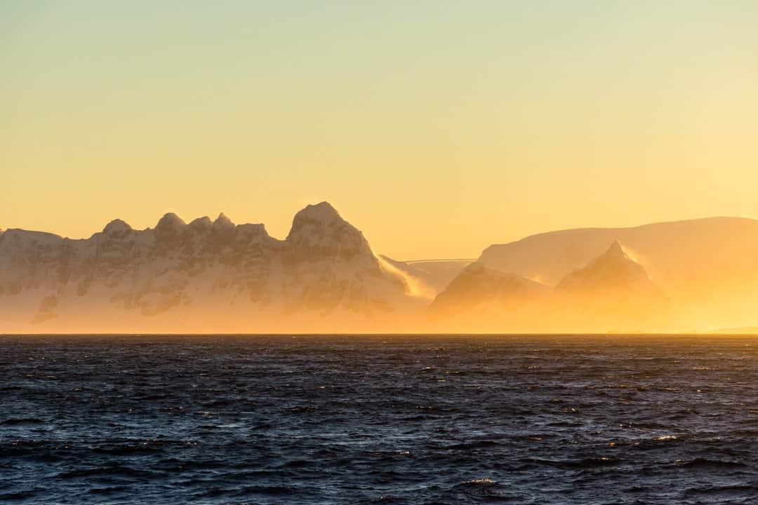 Antarctica Sunrise Crossing The Drake Passage From Ushuaia To Antarctica