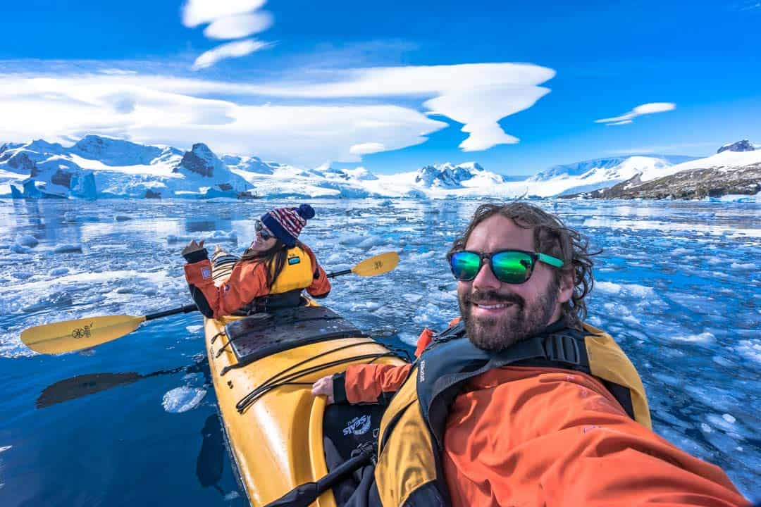 Us NOMADasaurus Kayaking In Antarctica