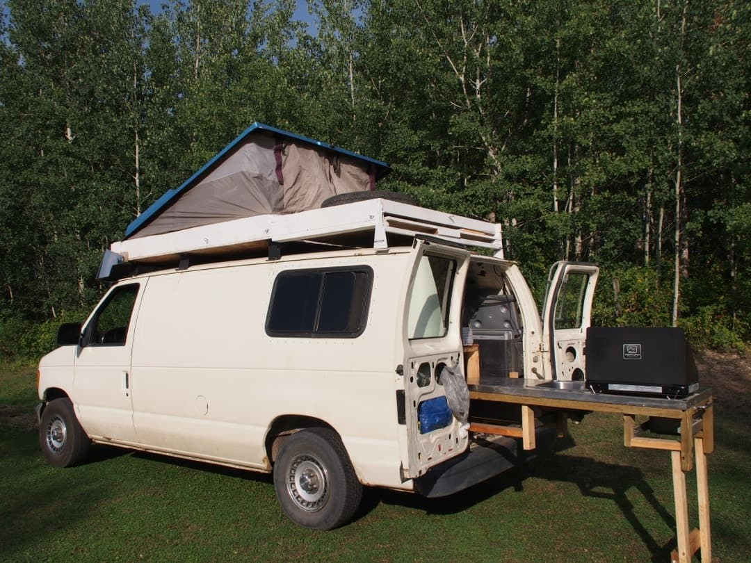 For Her Trip To Alaska, We Built The General A Rooftop Tent And A Pull Out Kitchen