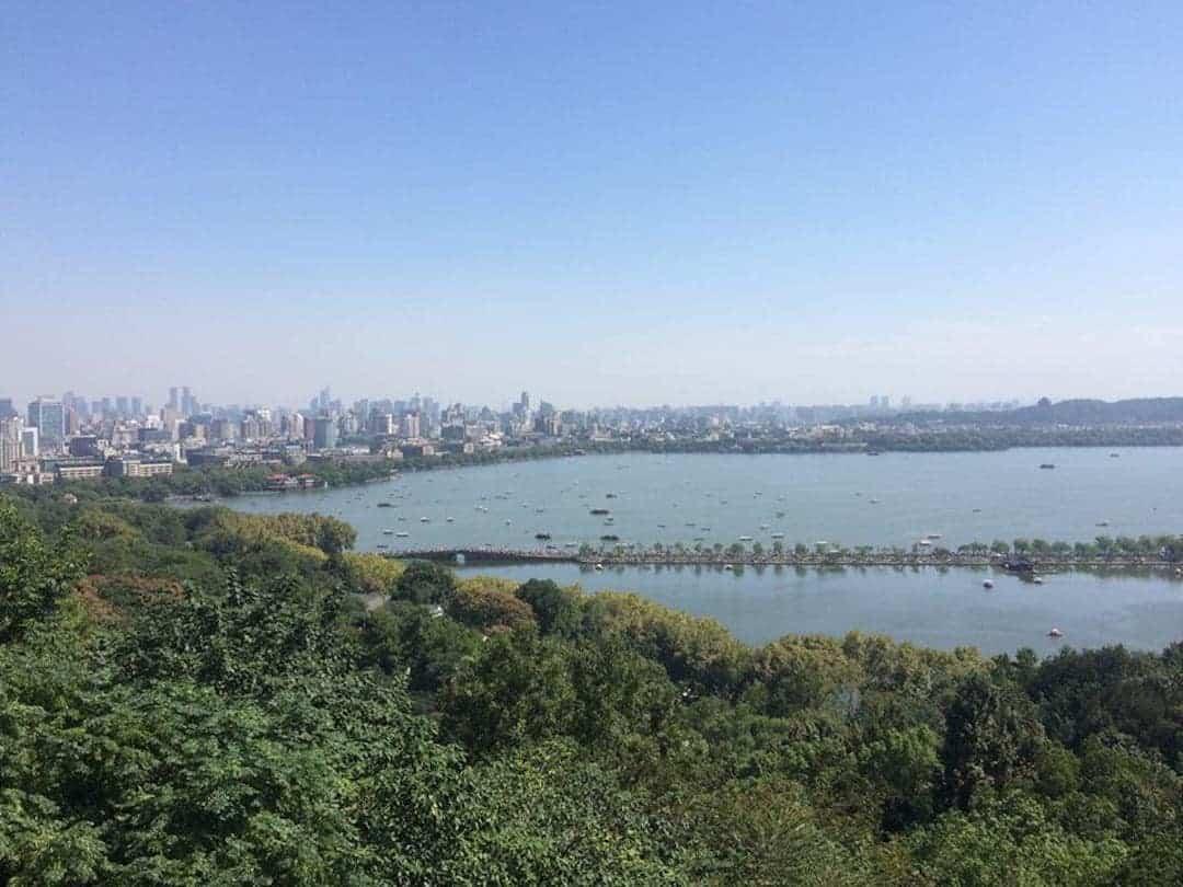 View Of The West Lake From Near Baochu Pagoda - Things To Do In Hangzhou