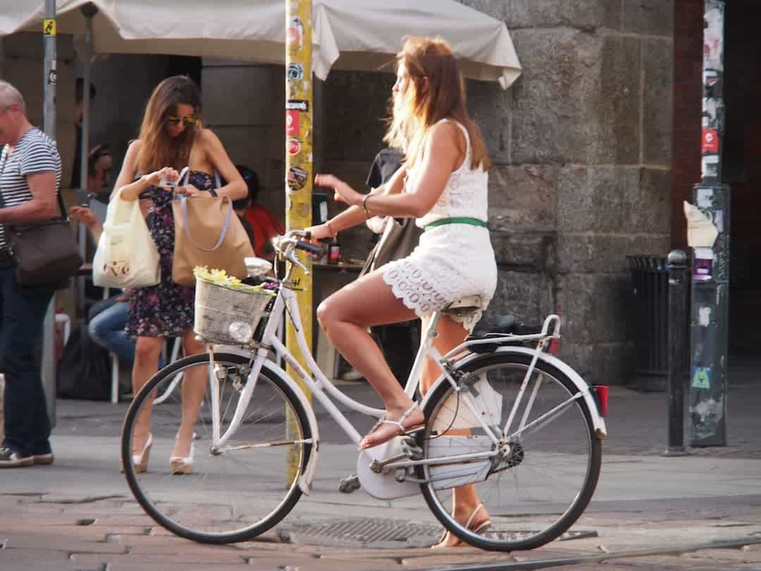 Girl on a Bicycle in Milan - The Mongol Rally Diaries Week 1