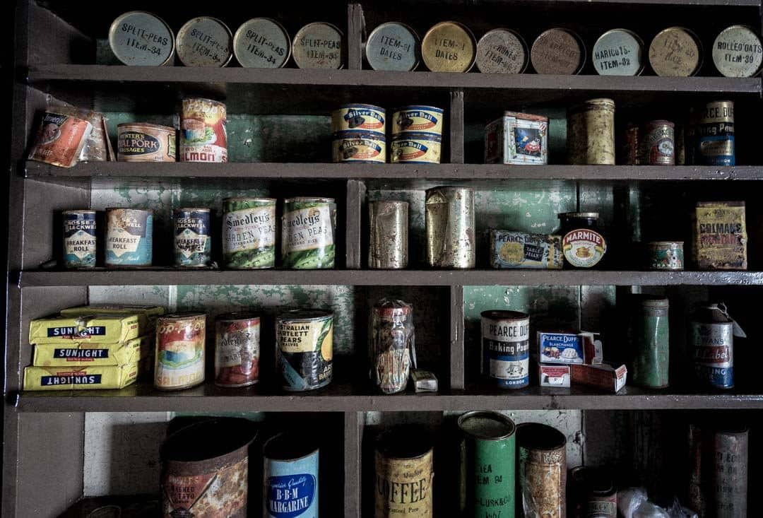 Canned Goods Wordie House Antarctica