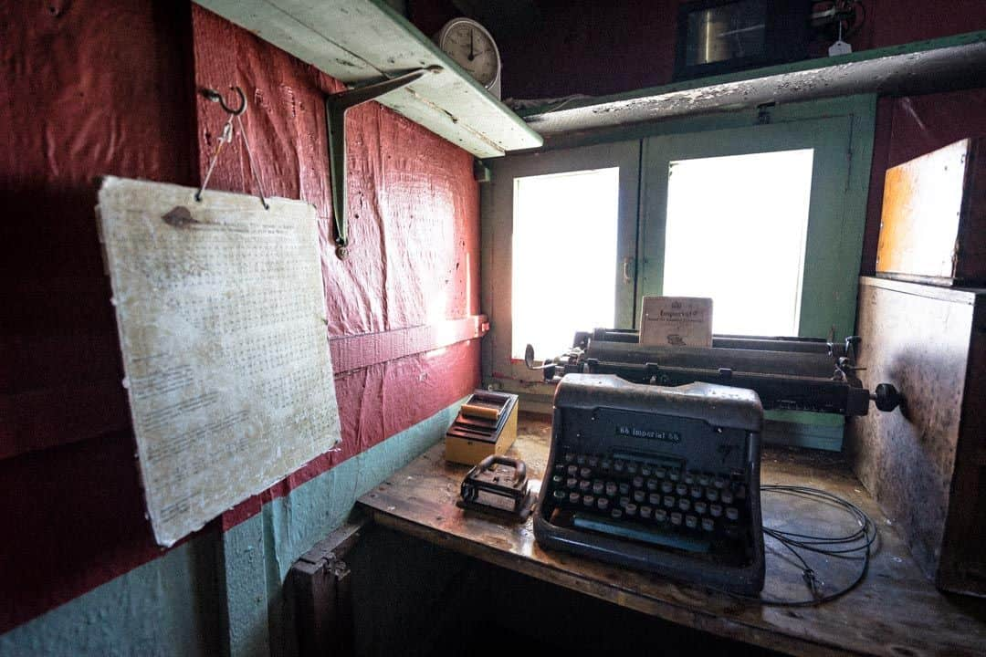 Typewriter Wordie House Antarctica