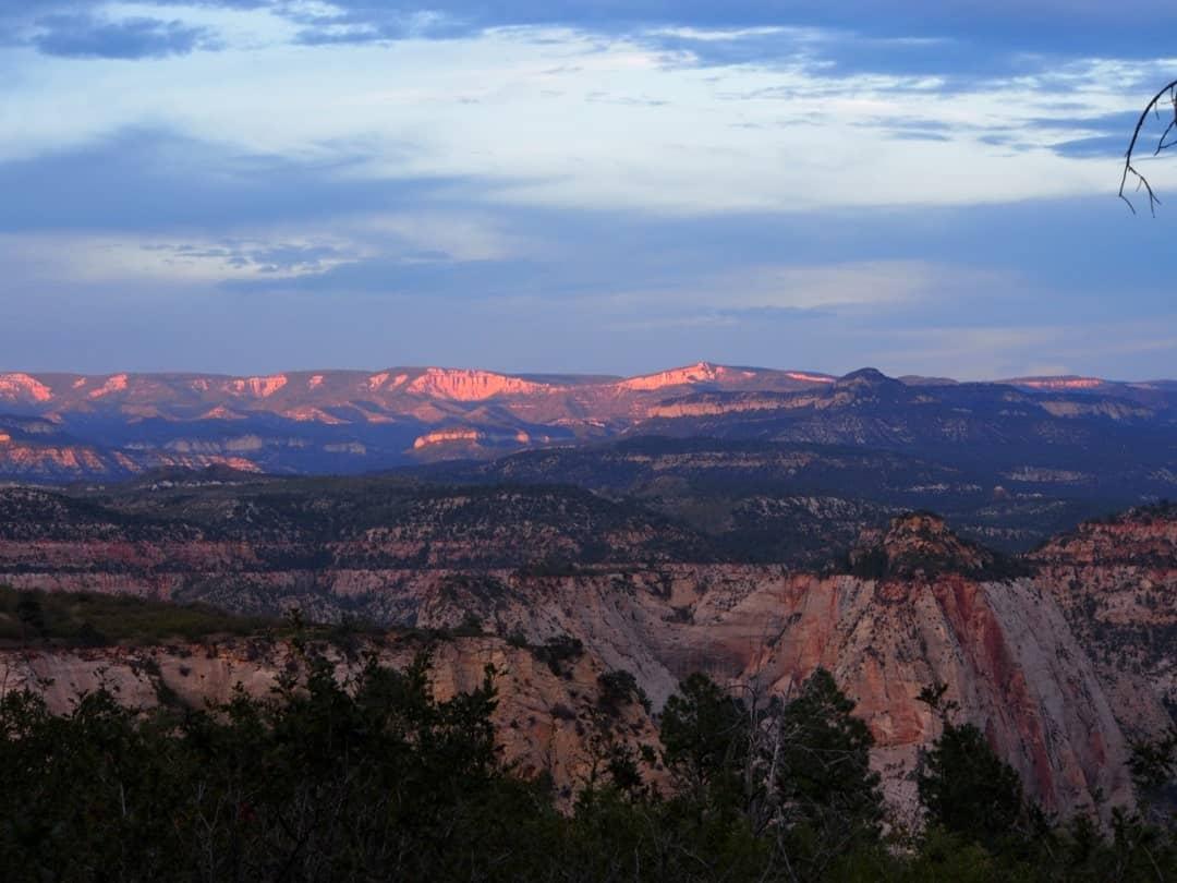 Overnight Camping Along Zion Canyon West Rim, Utah