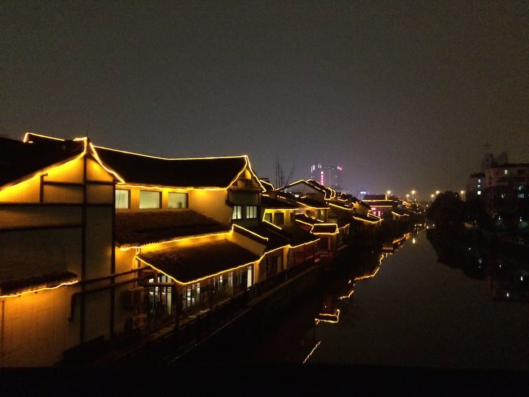 Shengli River Food Street Illuminates At Night - Things To Do In Hangzhou