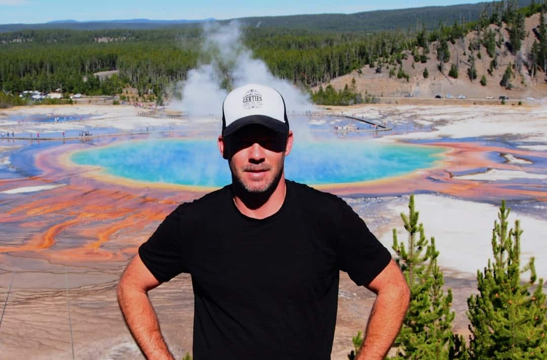 The Grand Prismatic Thermal Spring At Yellowstone N.p. Wyoming Is 90M In Diameter