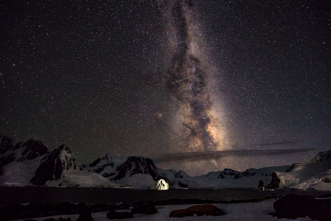 Milky Way Antarctica ISO Travel Photography Tips