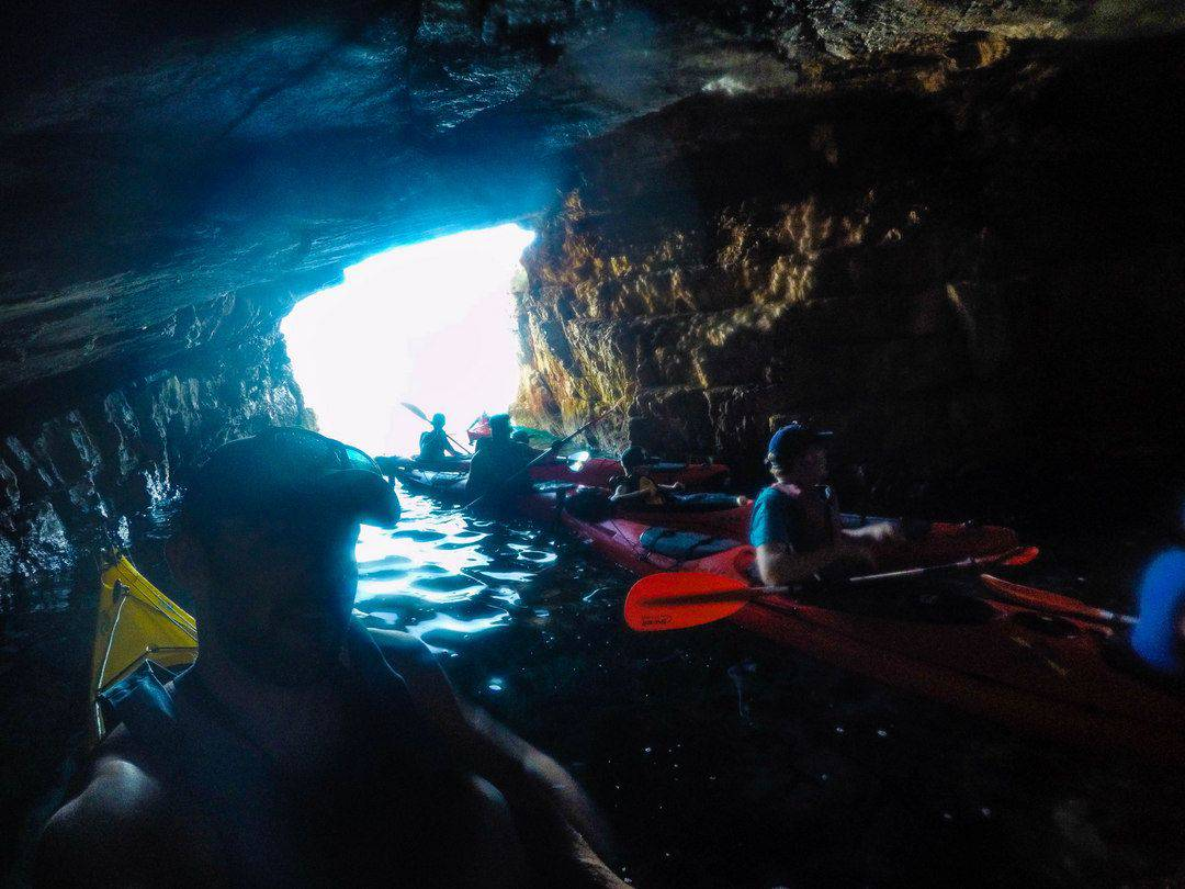Kayaking Inside A Large Cave - Kayaking In Dubrovnik