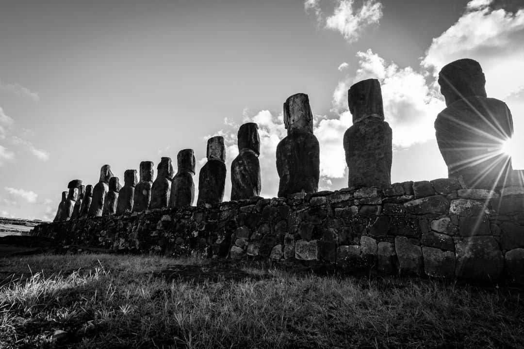 Moai Black And White Things To Do In Easter Island