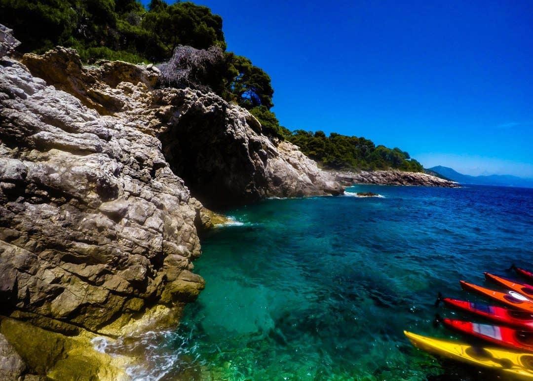 Ourside the blue cave - Kayaking In Dubrovnik