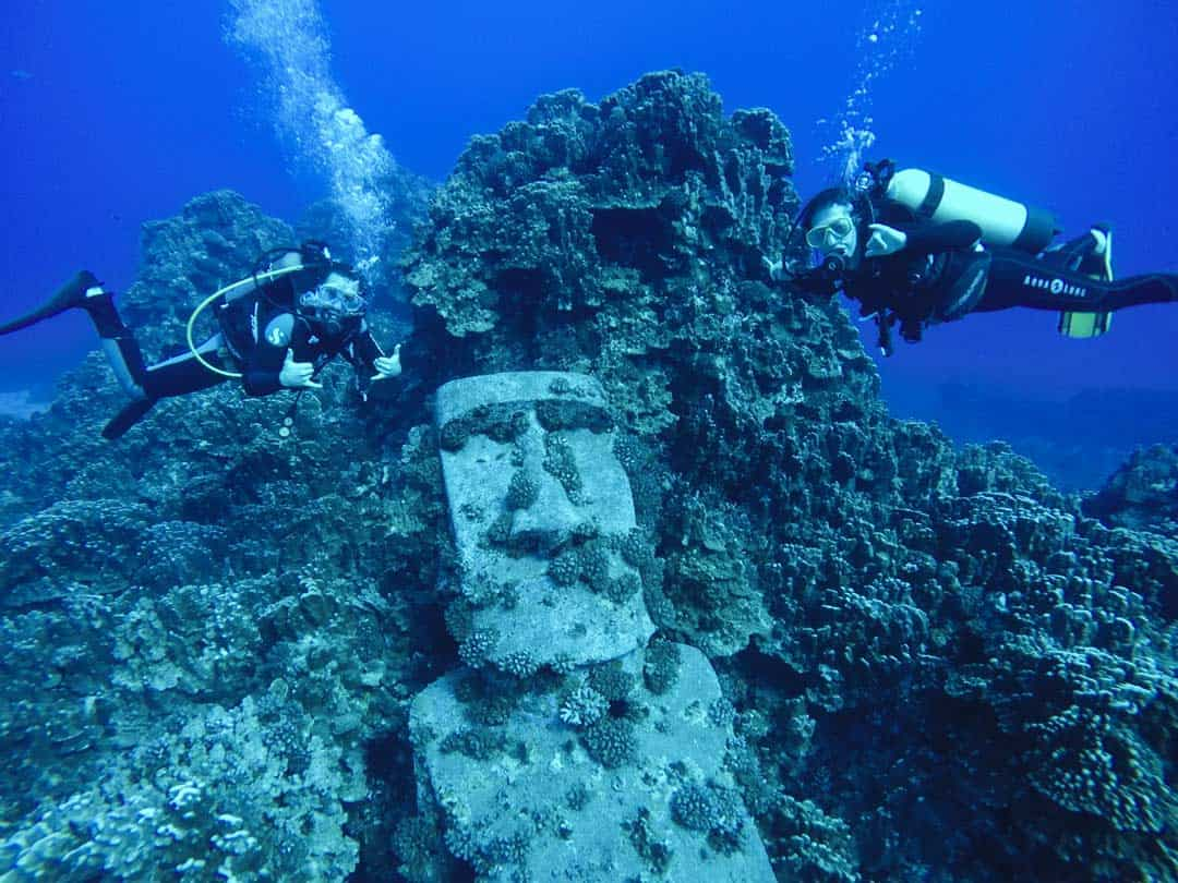 Underwater Moai Scuba Diving Things To Do In Easter Island
