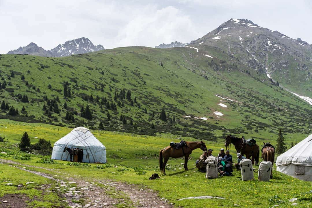 Alakol Eki Chat Yurt Camp Keskenkija Loop Jyrgalan Trek