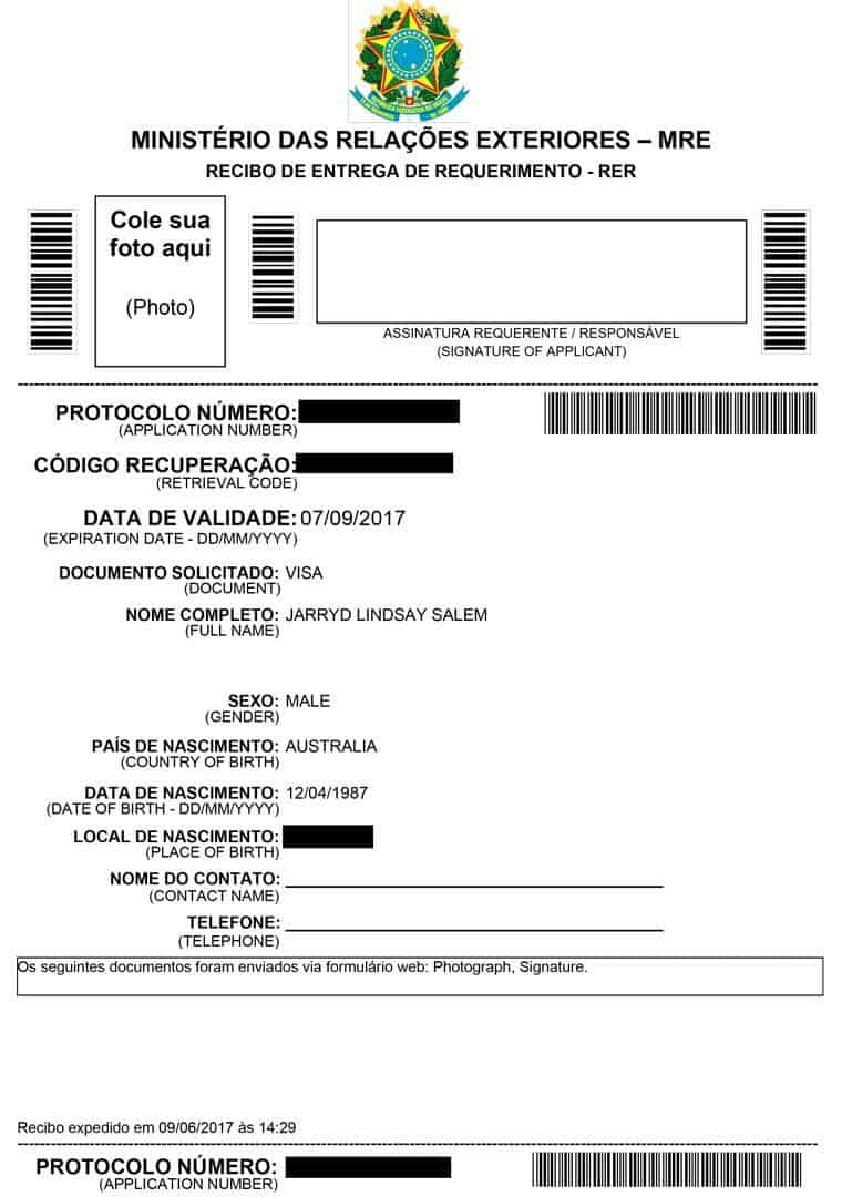 Brazilian passport application form image collections standard getting a brazil visa in buenos aires nomadasaurus adventure application form brazil visa in buenos aires yadclub Image collections