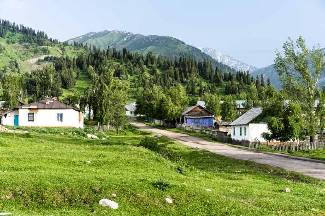 Town Jyrgalan Village Kyrgyzstan