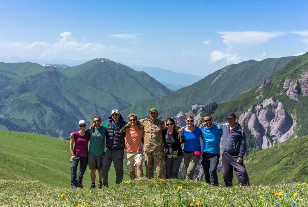 Group Keskenkija Loop Jyrgalan Trek