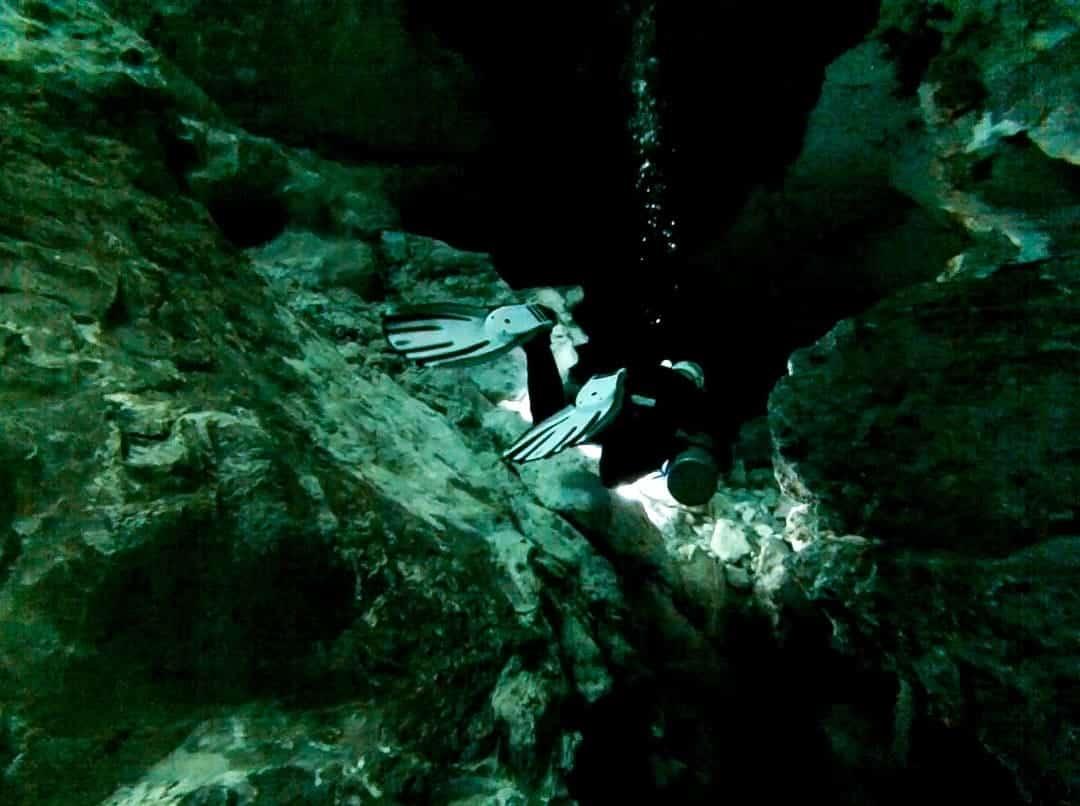 Cenote Diving In Tajma Ha, Mexico