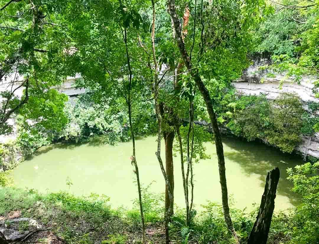 The Sacred Cenote At Chichen Itza