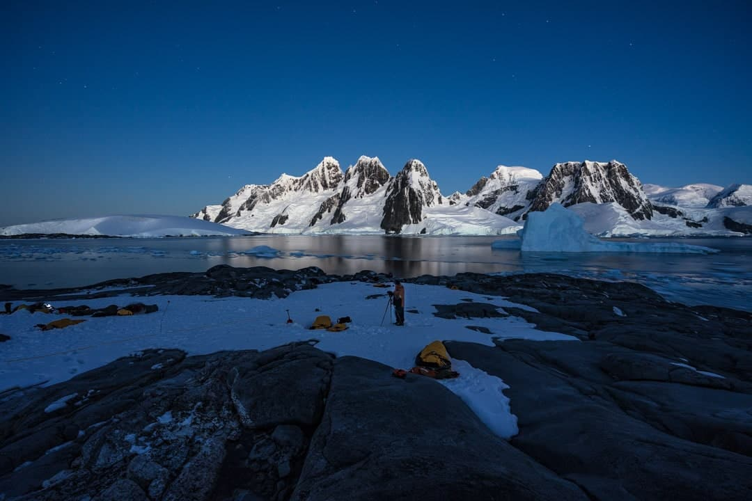 Night Hovgaaard Island Camping In Antarctica