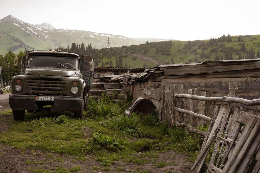 Old Truck Jyrgalan Village Kyrgyzstan