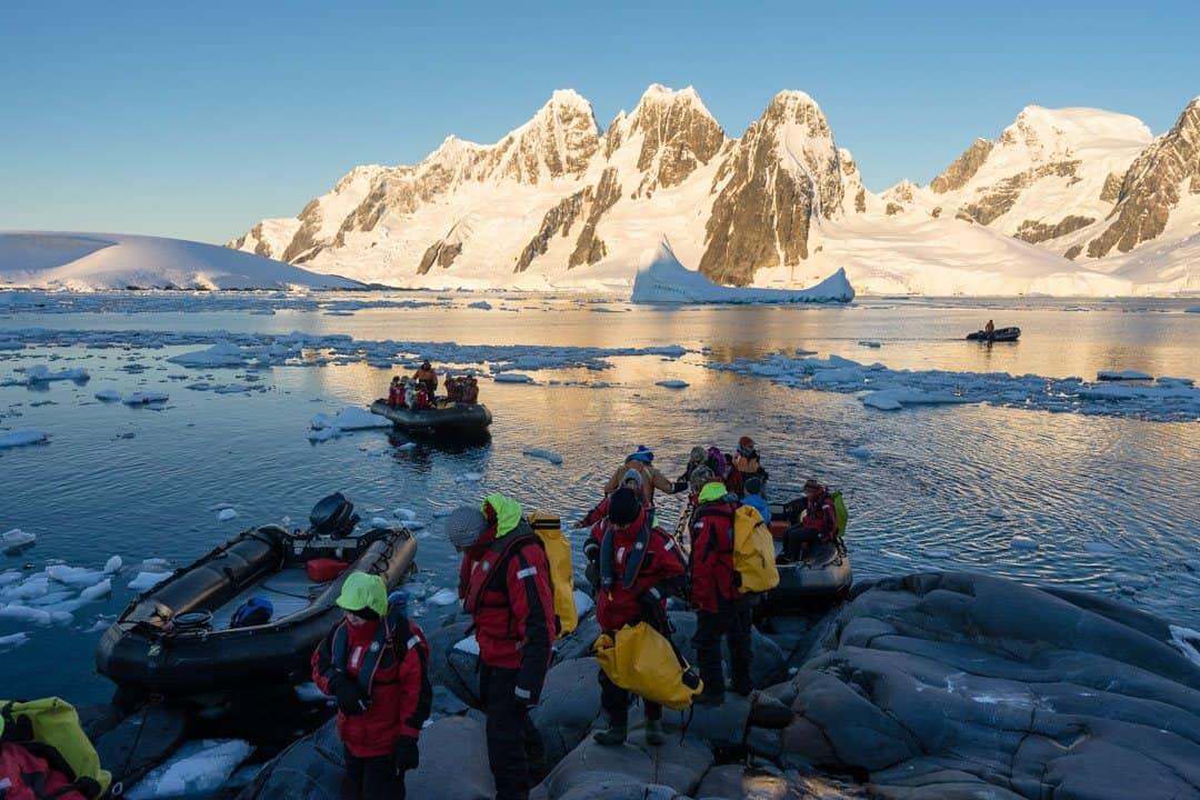 Arriving Camping In Antarctica