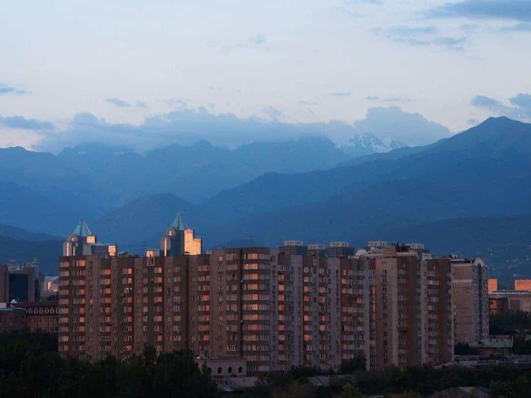 Residential Buildings In Almaty, Kazakhstan