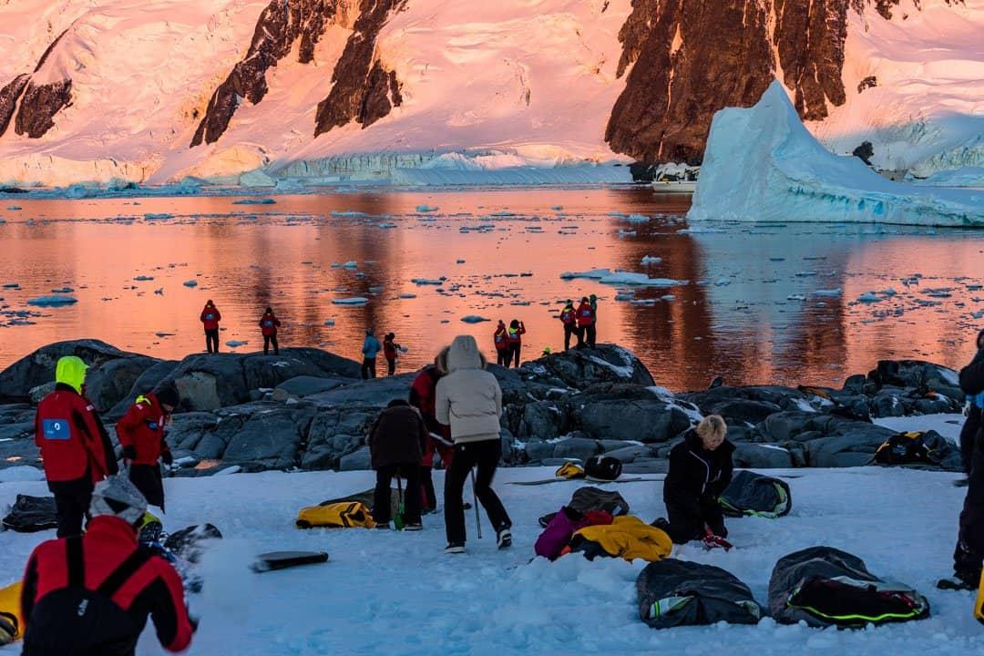 Digging Camping In Antarctica