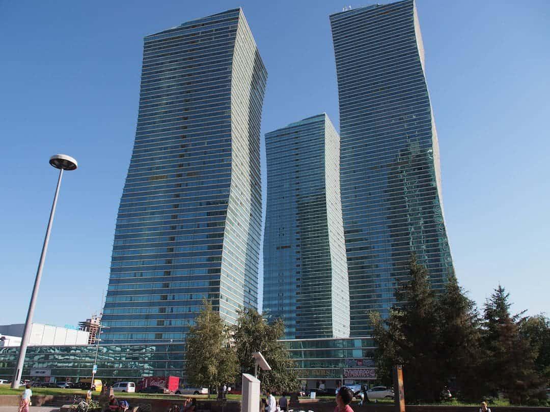 Some wonky buildings in Astana, Kazakhstan