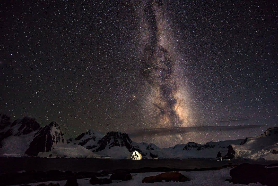 Camping In Antarctica Milky Way