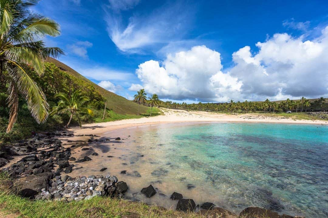 Anakena Beach Easter Island Photos Of Chile