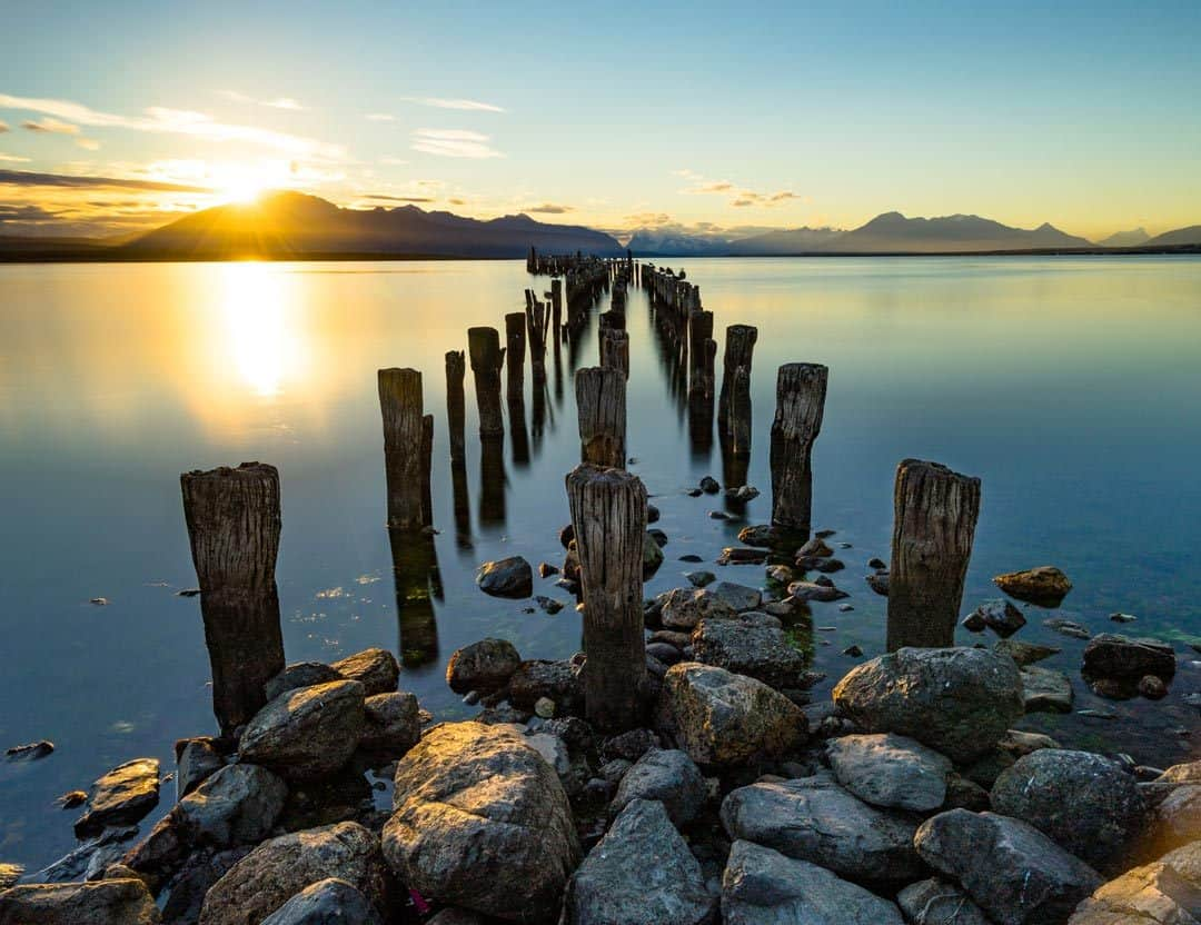 Puerto Natales Sunset Pier Photos Of Chile