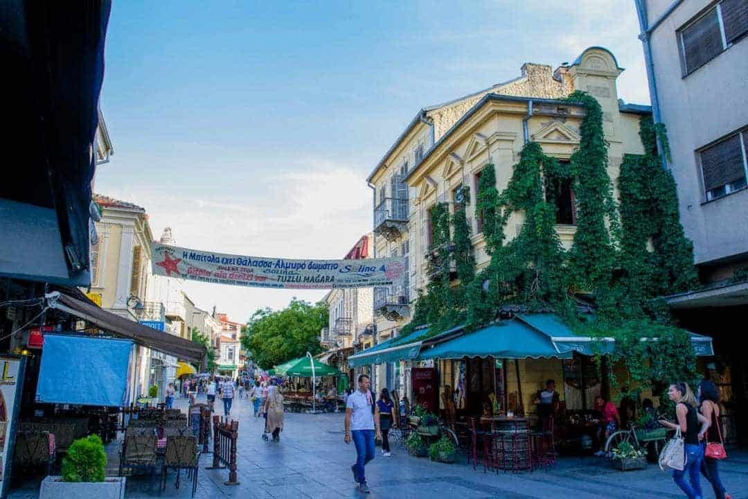 Sirok Sokak Street In Bitola, Macedonia