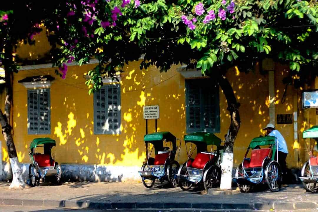 Tricycles in Old Town Hoi An, Vietnam - Digital Nomads Guide to Hoi An