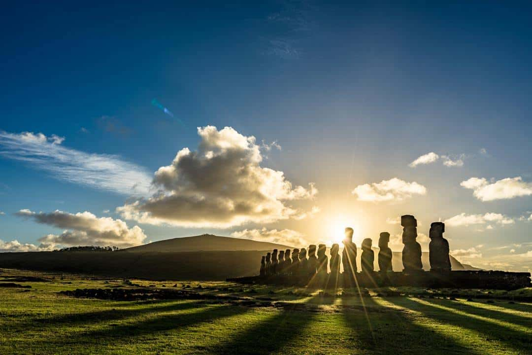 Tongariki Easter Island Sunrise Photos Of Chile