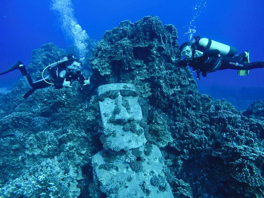 Underwater Moai Photos Of Chile
